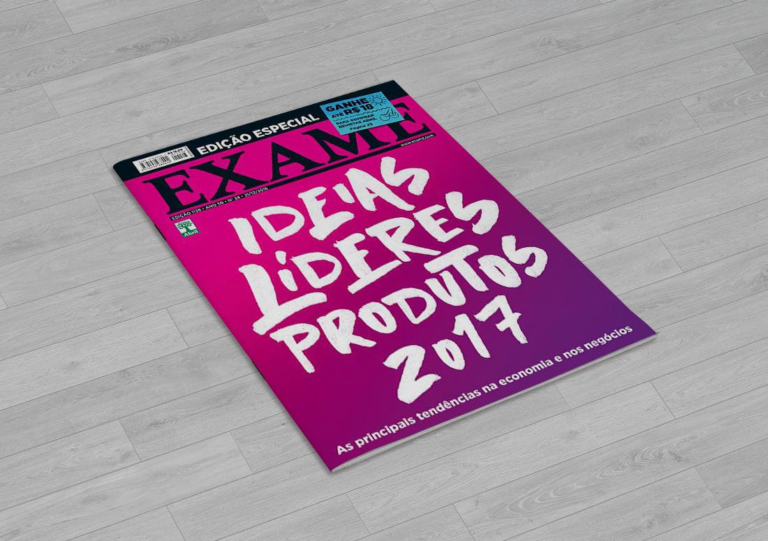 lettering para capa de revista