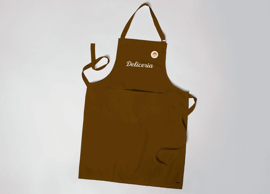 imagem de avental com bottom personalizado