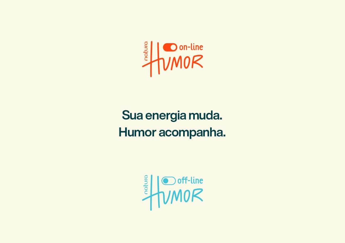 imagem dos logos de Natura Humor On-line e Off-line