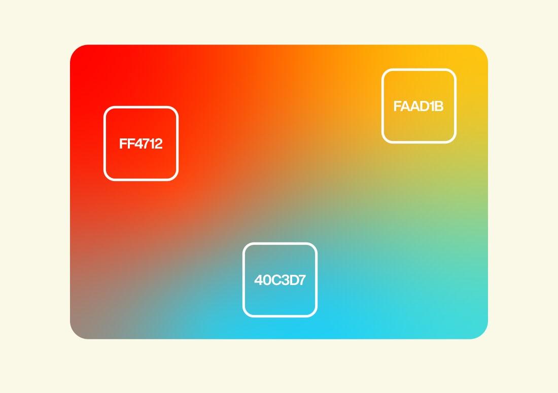 imagem de degradê com as cores do projeto