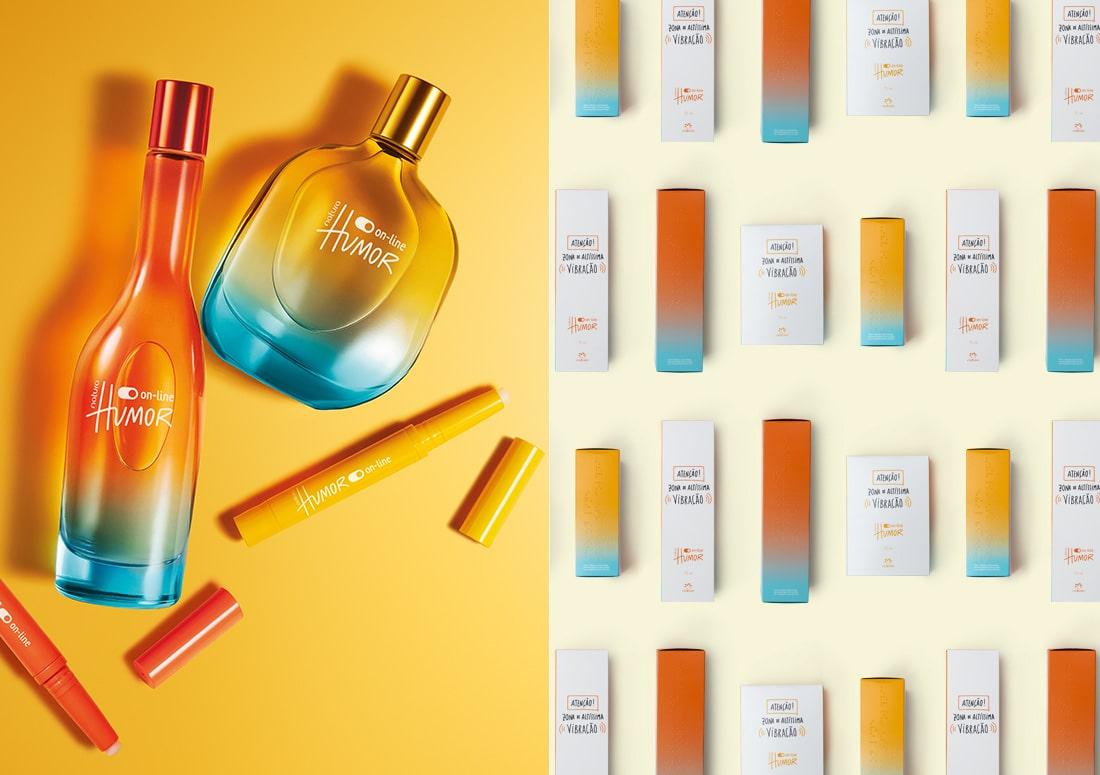 Imagem dos perfumes feminino e masculino
